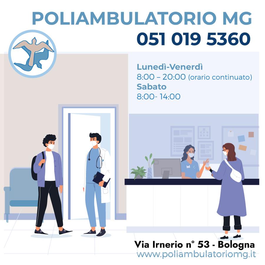 Il Poliambulatorio MG resta aperto per voi!